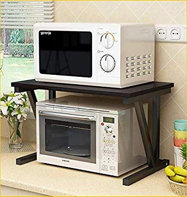 Amazon Com Raumeyun 2 Tier Microwave Stand Wooden Storage Rack Kitchen Wooden Shelving Microwave Oven Baker S With Images Microwave Stand Microwave Oven Microwave Shelf