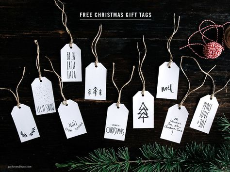 Free Christmas Gift Tags | Beautiful food, simple wholesome recipes & the occasional sweet treat | Gather & Feast