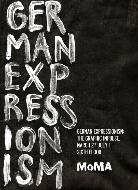 MoMA German Expressionism by Tom Storoniak, via Behance