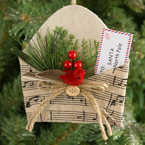your choice of color gift Sheet Music Christmas Ornaments- set of 3 paper flower ornaments home decor one of a kind origami holiday decoration Christmas ornament