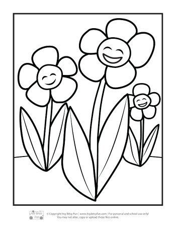 Flowers Coloring Pages For Kids Flower Coloring Pages For Kids Itsy Bitsy Fun In 2020 Coloring Pages Unicorn Coloring Pages Coloring Pages For Kids