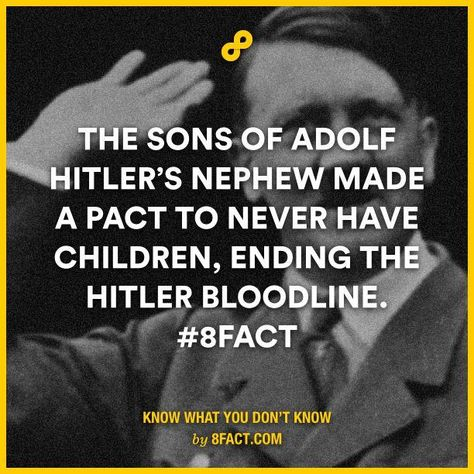 The sons of Adolph Hitler's nephew made a pact to never have children, ending the Hitler bloodline.