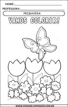 Lindos Desenhos Para Colorir Primavera Cantinho Do Educador