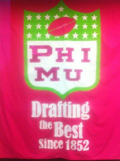Phi Mu Bid Day Banner!!