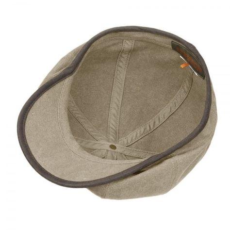 56c2b613771 Stetson Hats Stetson Seward Green Khaki Canvas Flat Cap 6841125 ...