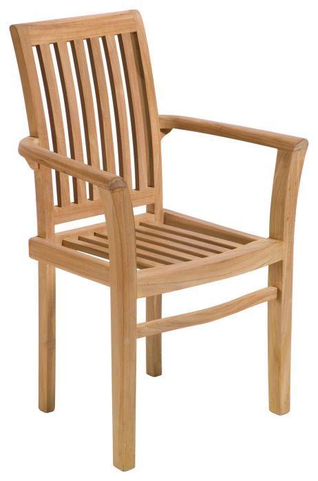 Mu Stackable Teak Armchair Raw Teak Outdoor Furniture Teak Dining Chairs Teak
