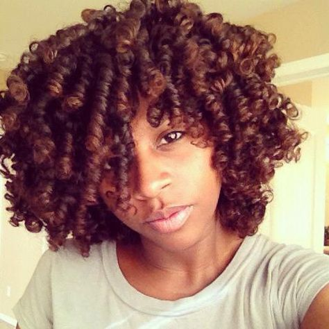 Perm Rods on Natural Hair with No Heat~ ♥