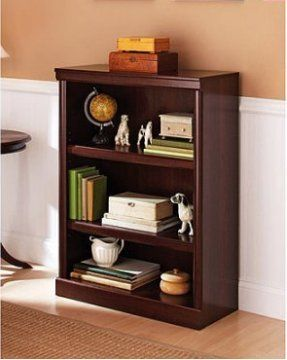 Ehome Superstore Llc 3 Shelf Bookcase Cherry Finish Display Your Books Magazines Pictures Vases Wooden Bookcase 3 Shelf Bookcase Adjustable Shelf Storage