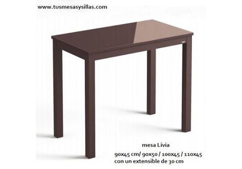 Mesa pequeña y estrecha cocina Livia fondo 45 y 50 cm ...