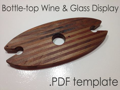 Instant Download Printable Pdf Template Pattern For Wine Etsy In 2021 Wine Glass Display Wooden Wine Rack Pdf Templates
