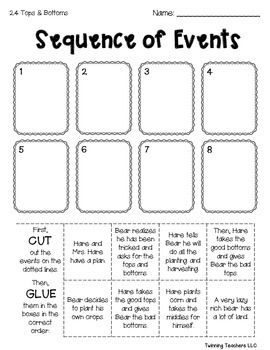 3rd Grade Reading Street Sequence Of Events Units 1 6 3rd
