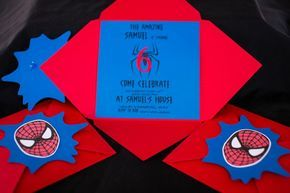 Spiderman Tema Degli Inviti Festa Compleanno Bambini Sia Per La Busta Che Per Il Inviti Alla Festa Di Compleanno Inviti Per Feste Festa Di Compleanno Supereroe