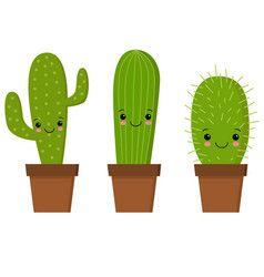 Cute cartoon cactus with funny vector image on VectorStock