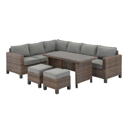 Better Homes Gardens Brookbury 5 Piece Patio Wicker Sectional
