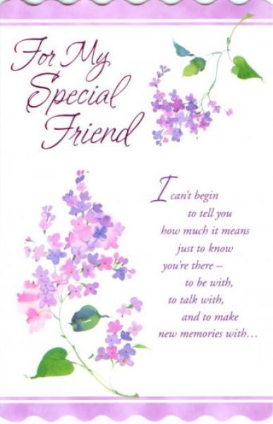 Special Birthday Greetings For Friend Gallery Greeting Card