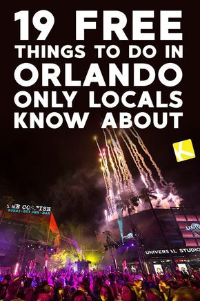 19 Free Things To Do In Orlando Only Locals Know About Orlando Activities Orlando Florida Vacation Things To Do Orlando