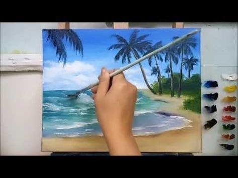 Yagliboya Deniz Nasil Yapilir Youtube Deniz Resmi Nasil Cizilir Youtube In 2020 Sea Painting Painting Lessons Beach Painting