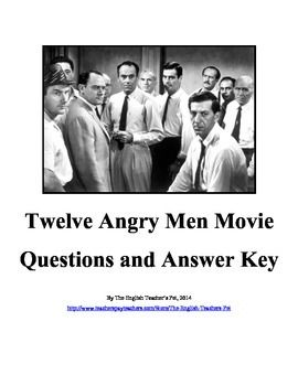 Twelve Angry Men Movie Questions And Answer Key This Or That Questions College Application Essay Essay Questions