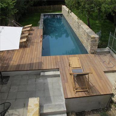 Différentes constructions de piscines bois semi-enterrées Piscine - location maison avec piscine dans le var