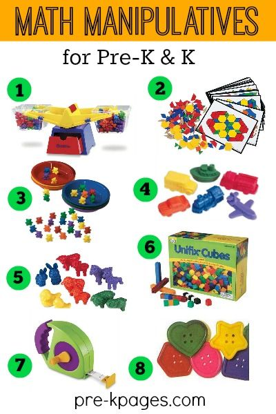 Best Math Manipulatives and Tools for Preschool and Kindergarten. Make learning fun with hands-on tools to support mathematical thinking, develop number sense and more!