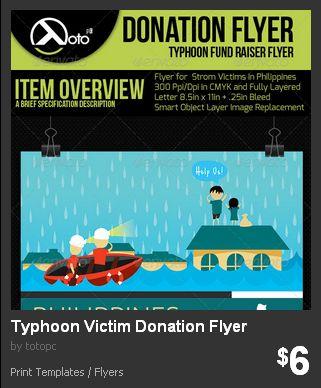 Typhoon Victims Donation Flyer Flyers Pinterest - donation flyer template