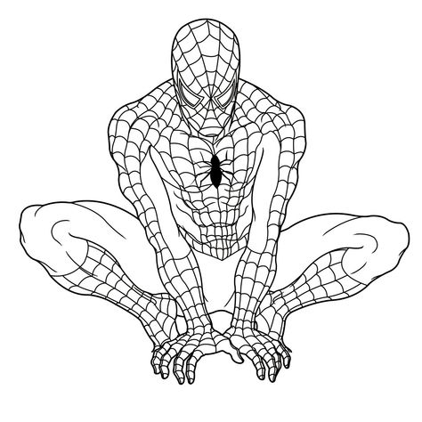 spiderman coloring pages pdf Coloring pages - superheroes - copy coloring pages to color free online