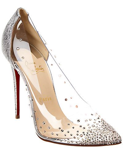 best website 5eca4 078c7 Rue La La — Christian Louboutin Degrastrass PVC Transparent ...