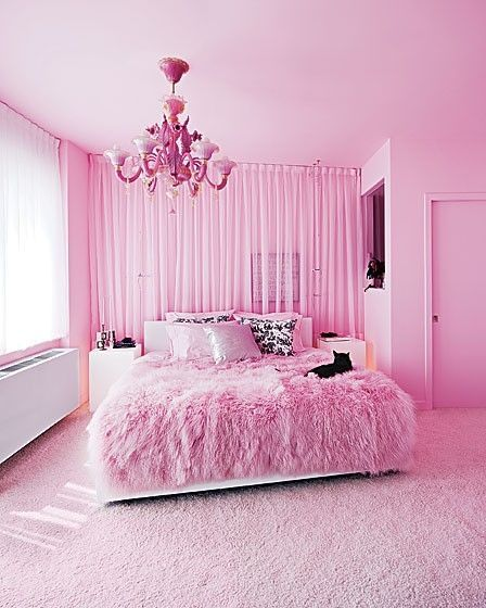 Du Violet Et Du Rose Pour Une Chambre Toute En Feminite Idee