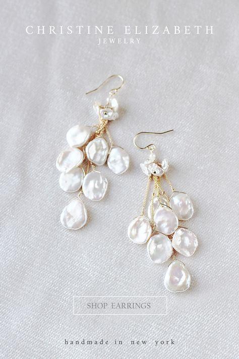 Pearl Jewelry, Crystal Jewelry, Wedding Jewelry, Fine Jewelry, Wedding Earrings, Pearl Bridal Earrings, Bride Earrings, Clip On Pearl Earrings, Flower Jewelry