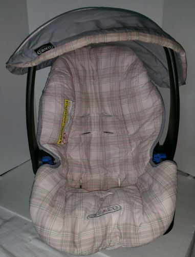 Graco Infant Baby S Car Seat Cover Pink Plaid Replacement Part Rear Facing M