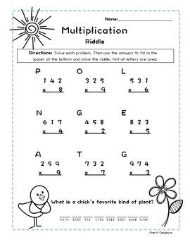 20++ 3 digit by 1 digit multiplication worksheets pdf Popular