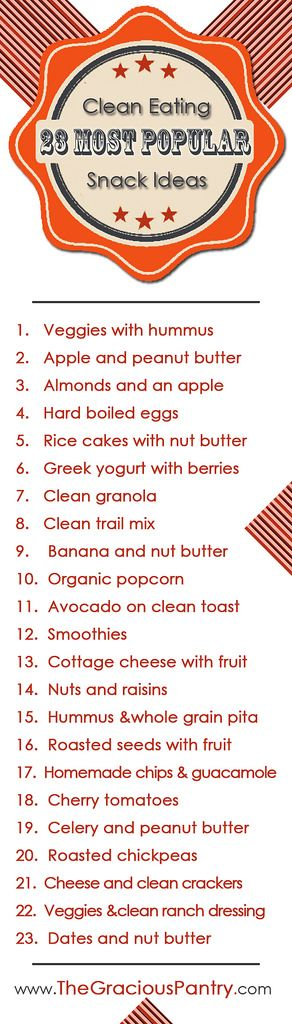 23 Clean Eating Snack Ideas #healthy #snackattack