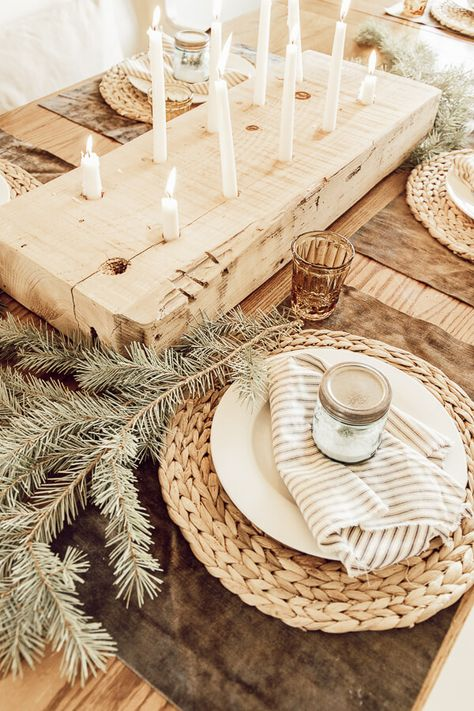 My Cozy Hygge and Scandinavian Inspired Christmas Table Decor - Twelve On Main