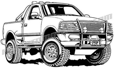 Ford F 150 Lifted Pickup Truck Vector Clip Art Ford Trucks Truck Coloring Pages Ford F150