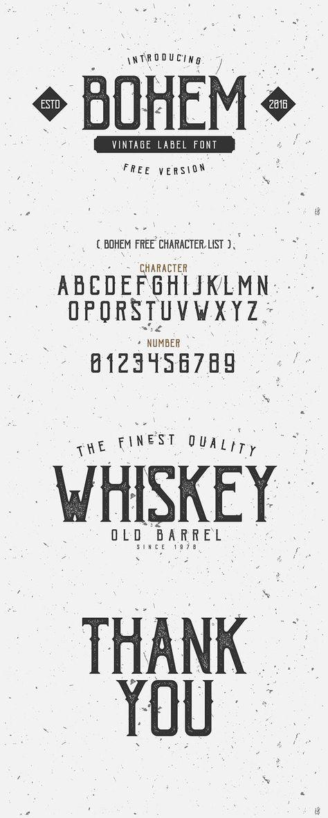 Free Bohem Display Font