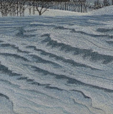 "detail, ""Windswept Snow"" by Tracey Lawko.  2nd place, original design pictorial wall quilt.  2014 National Juried Show ~ Canadian Quilters' Association"