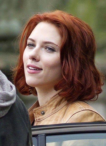 Messy Red Hair Scarlett Johansson Short Hairstyles Scarlett Johansson Red Hair Scarlett Johansson Hairstyle Short Hair Styles