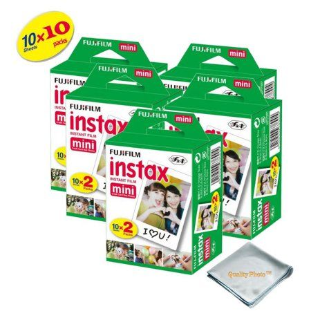 10 Packs Fujifilm instax Mini Film,100 Fuji instant photos 7s 8 9 Polaroid 300