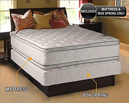 King Size Bed Frame And Mattress Pillow Top Mattress Full Size