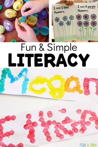 Simple Early Literacy Activities For Preschool And Kindergarten Kids Early Literacy Activities Literacy Activities Early Literacy Activities for preschoolers about