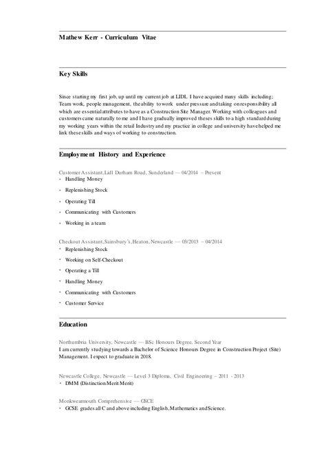 Curriculum Vitae Lidl Modelos De Curriculum Vitae Plan De
