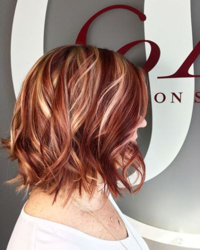 Red Highlights Ideas For Blonde Red Hair With Blonde Highlights