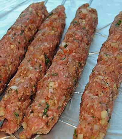 Turkisches Essen Der Adana Kebab Und Ein Einfaches Hausgemachtes