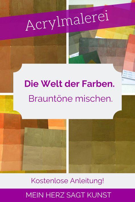 Braun Mischen Mit Den Grundfarben Acrylmalerei Techniken