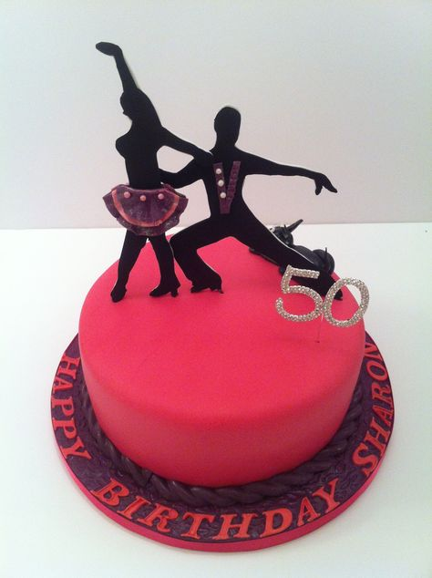 A SALSA CAKE - simple dance silhouettes sophisticated and yet effective - July 2014