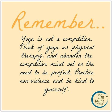 Yoga is not a competition