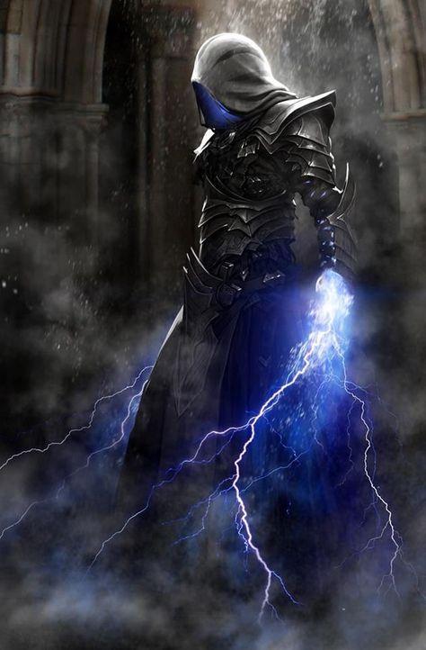 Blue Lightning Fantasy Art