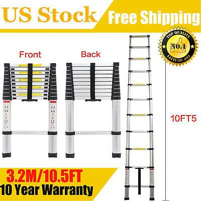 Ad Ebay 10 5ft Step Ladder Extension Telescoping Lightweight Portable Folding Telescopic In 2020 Step Ladders