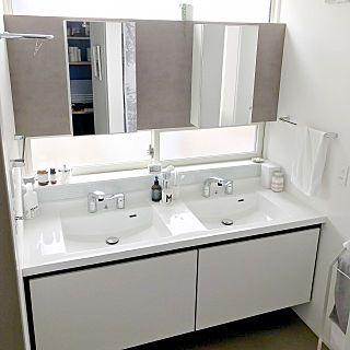 2ボウル リクシルの洗面台 ルミシス Lixil リクシル などのインテリア実例 2018 02 19 22 20 59 Roomclip ルームクリップ 洗面台 バスルーム インテリア 造作 洗面台