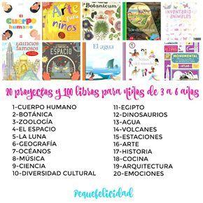 Pequefelicidad Los 100 Mejores Libros Para Enseñar Por Proyectos A Niños De 3 A 6 Años Los 100 Mejores Libros Lectura Y Escritura Libros